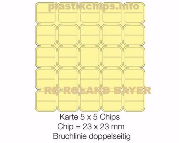 Brechchips 5 x 5 / 48 halbe Chips und 1 Chip