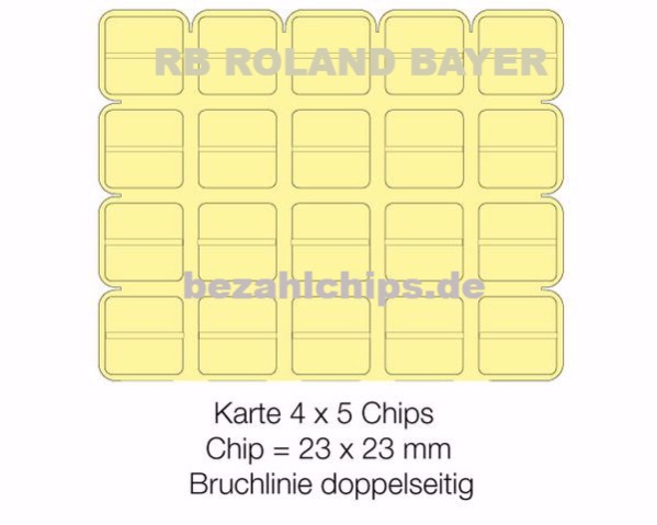 Brechchips 4 x 5 / 40 halbe Chips